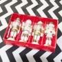 Kit 4 Bonecos Soldado Quebra Nozes Decoração de Natal