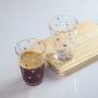 Kit 4 Copos Americano De Vidro Coração Para Água Suco 190ml