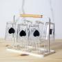 Kit 6 Copos Americano De Vidro Coração Para Suco Água 190ml