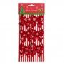 Kit 6 Laço Enfeite De Decoração Natal Árvore Vermelho