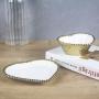 Porta Bijuterias E Sabonete Decorativo Coração De Porcelana