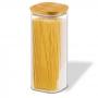 Pote Quadrado Para mantimentos Tampa De Bambu 1900ML