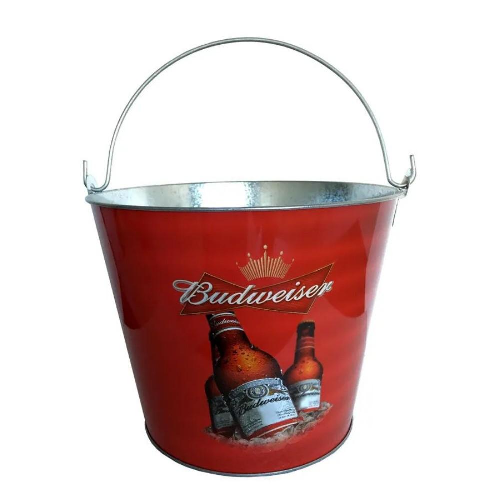 Balde de Gelo Bebidas Long Neck Cerveja Budweiser Alumínio