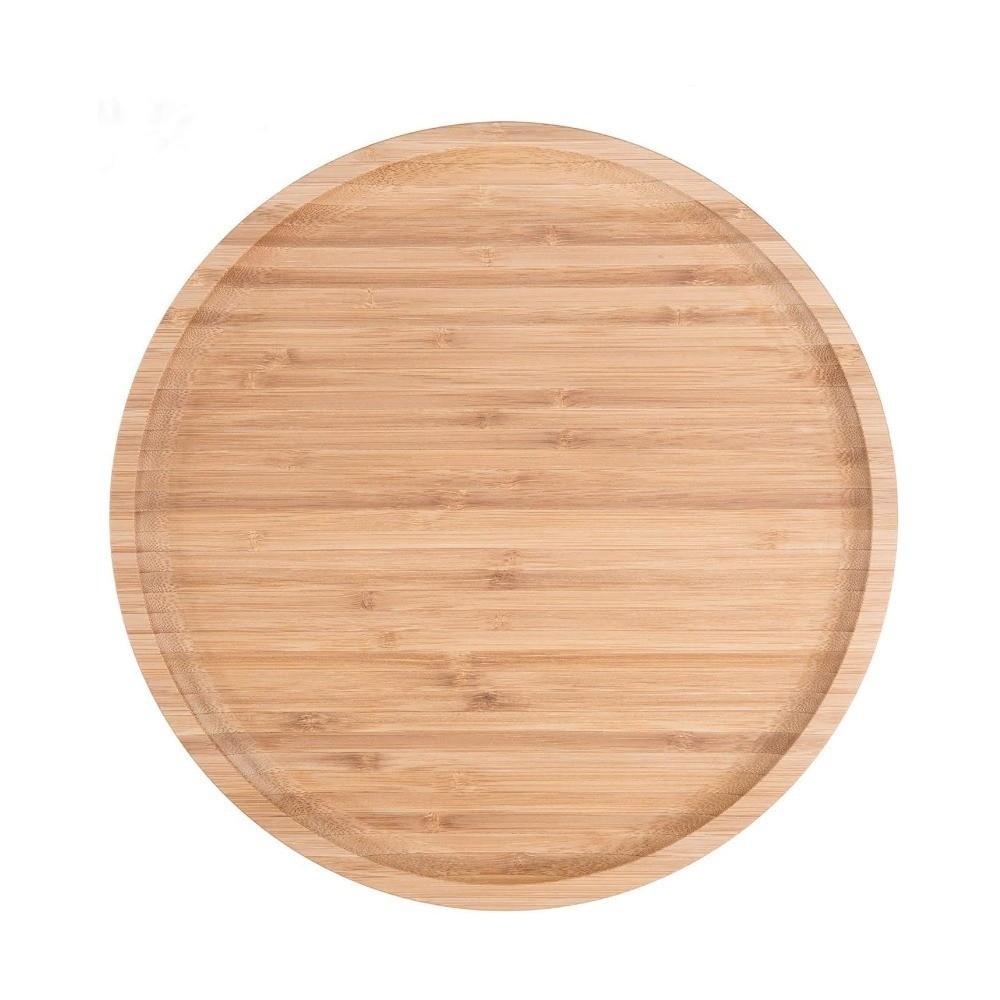 Bandeja Forma Prato De Bambu Para Frios Potes Temperos 20Cm