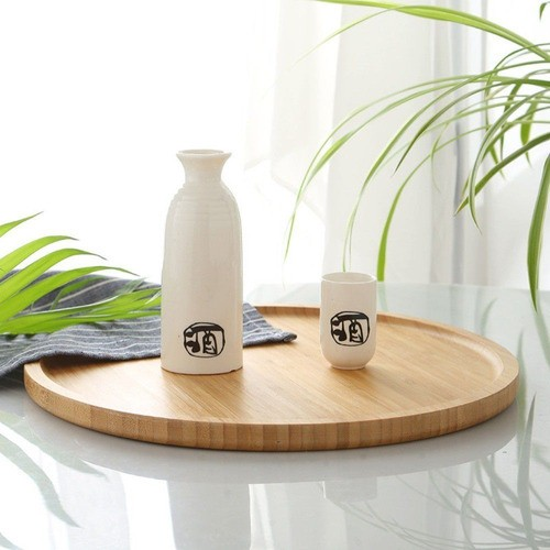 Bandeja Forma Prato De Bambu Para Frios Potes Temperos 25Cm