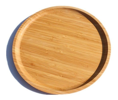 Bandeja Forma Prato De Bambu Para Frios Potes Temperos 30cm