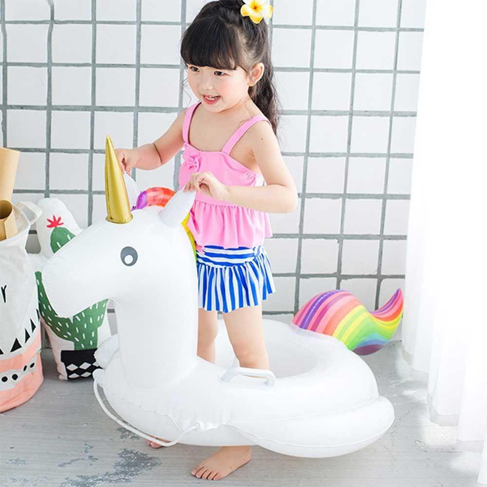 Boia De Unicornio Para Piscina Infantil De 2 A 6 Anos