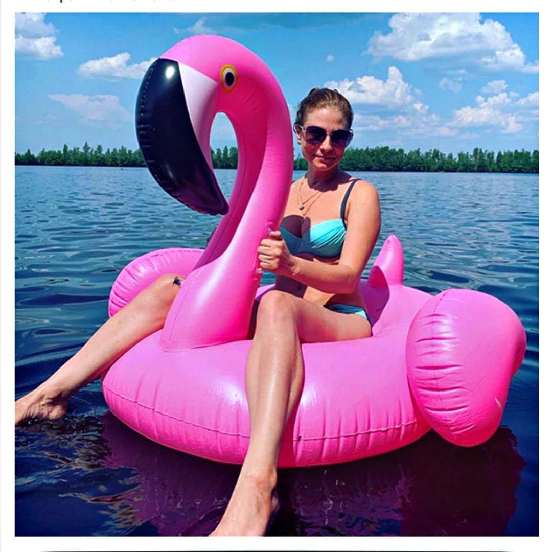 Boia Gigante Inflável Flamingo Para Piscina Praia 150cm