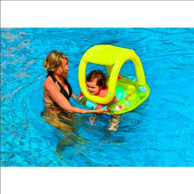 Boia inflável fralda com assento e cobertura 66x66cm