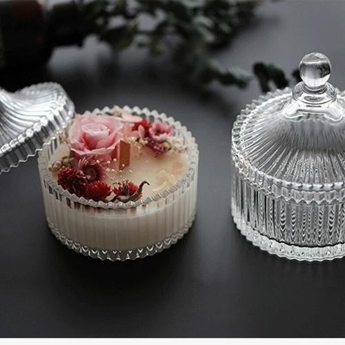 Bomboniere Potiche De Vidro Decorativa Para Doces Joias