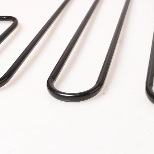 Cabide De Metal Com 5 Divisórias Para Saia E Calça Preto