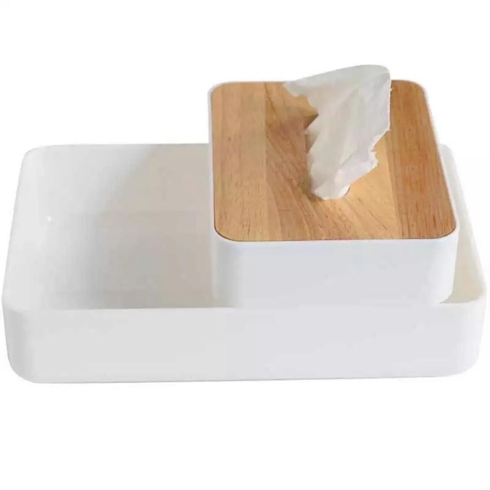 Caixa Organizadora Com Porta Lenço Objetos Banheiro Mesa