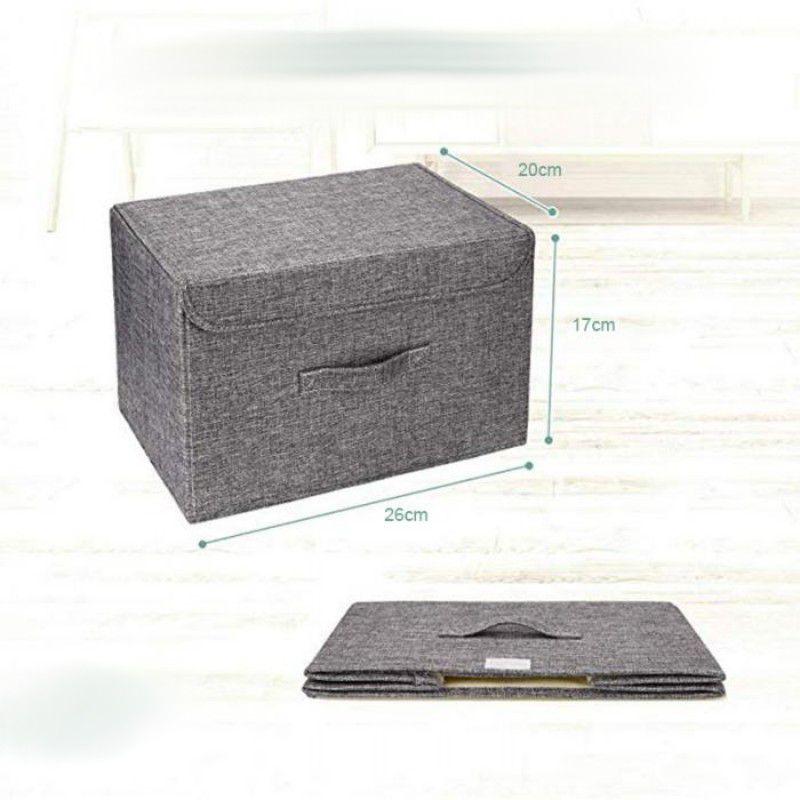Caixa Organizadora Tecido Com Tampa Dobrável 28x21x16