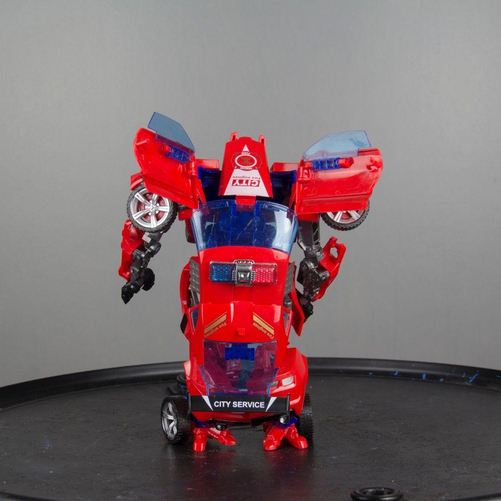 Carro Transformers Robô Articulado Com Acessório 30 cm
