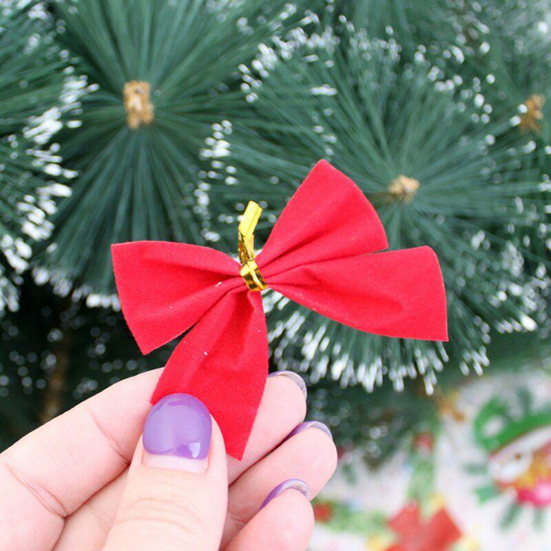 Cartela Com 12 Laços Enfeite Para Árvore De Natal
