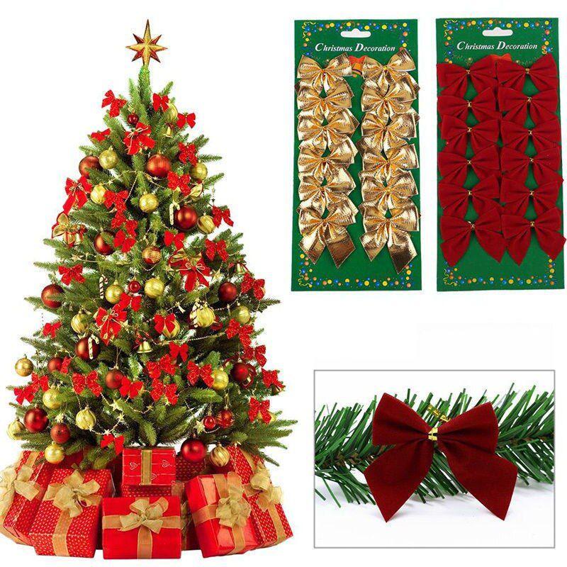 Cartela Com 24 Laços Enfeite Árvore De Natal E Decoração