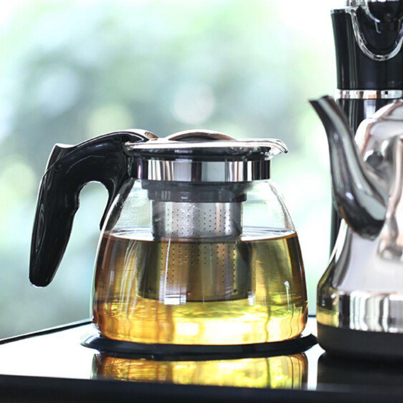 Chaleira de Vidro 900ML com Infusor Inox Para Chá