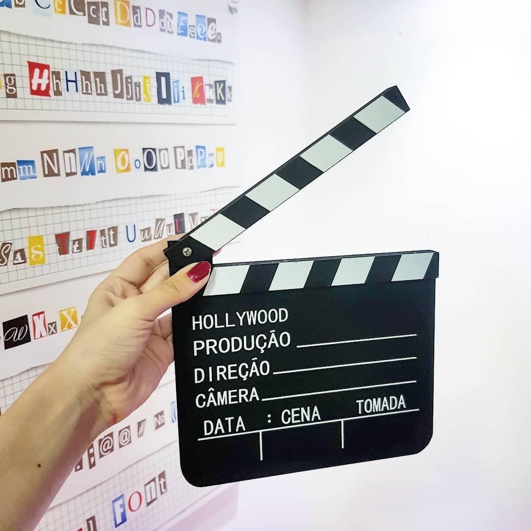Claquete Português Para Canal Youtube Tv Decoração 30x28