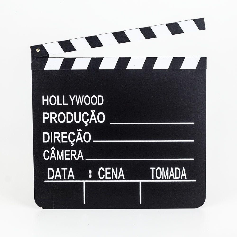 Claquete Português Para Estúdio De Cinema Tv Decoração 20X18
