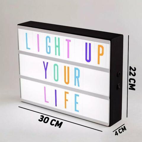 Luminária Light Box Placa Led Quadro Letreiro Luminoso Letra