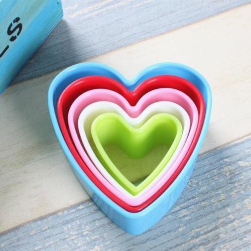 Cortador Colorido Coração Para Biscoito Páscoa Pasta