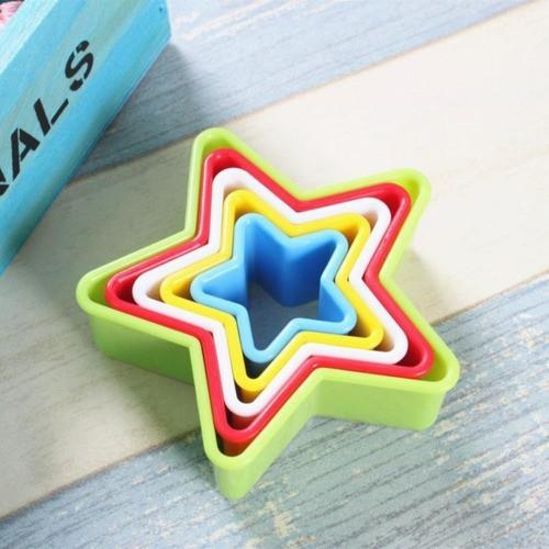 Cortador Colorido Estrela Para Biscoito Páscoa Pasta