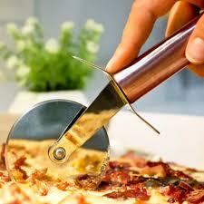 Cortador De Pizza Cozinha Rose Gold 20cm Aço Inoxidável