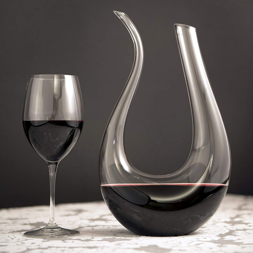 Decanter Garrafa Chifre U Luxo Para Vinho Bebidas