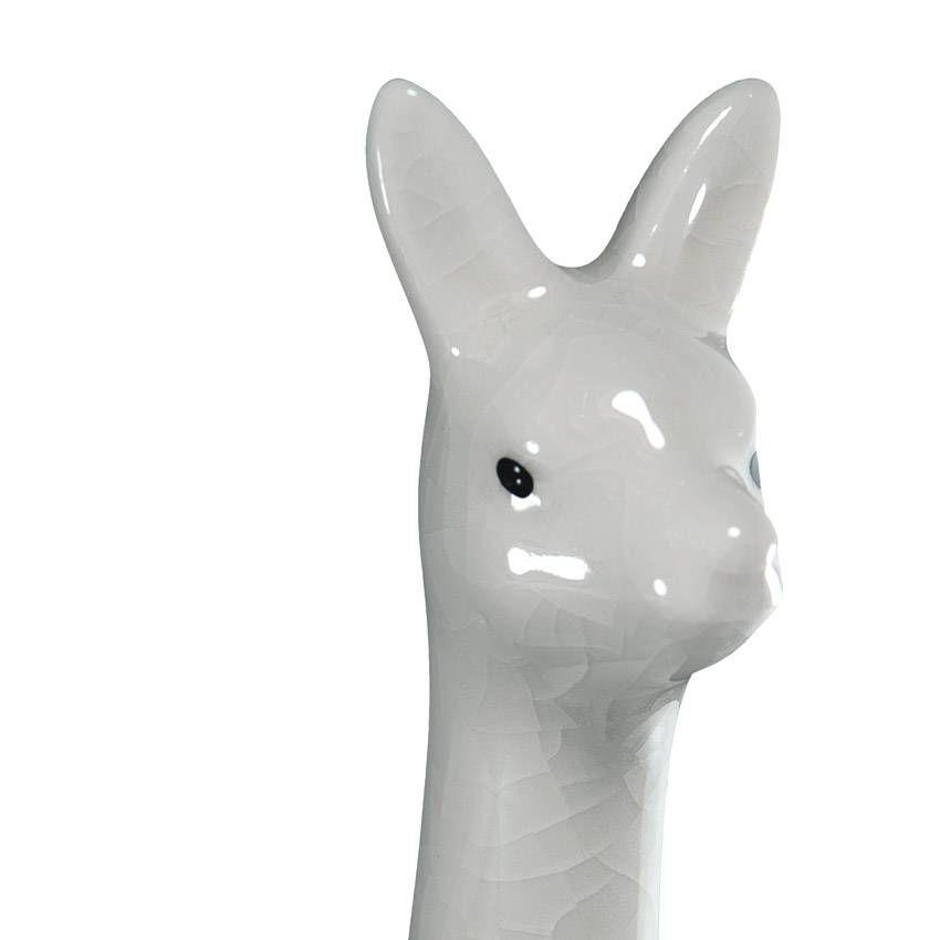 Enfeite De Cerâmica Lhama Branca Decoração