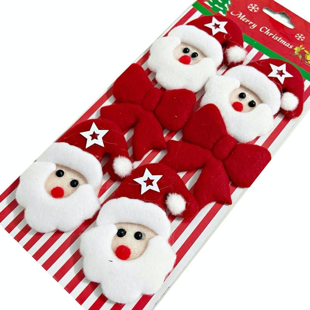 Enfeite Decoração De Natal Papai Noel Com Laços Árvore