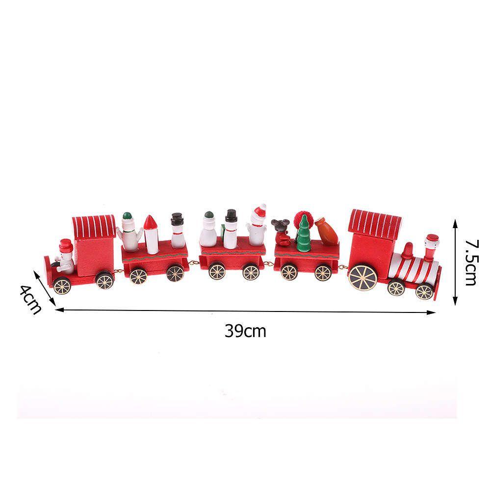 Enfeite Decoração De Natal Trem Madeira 39cm