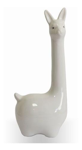 Enfeite Decorativo Lhama Em Cerâmica Para Decoração