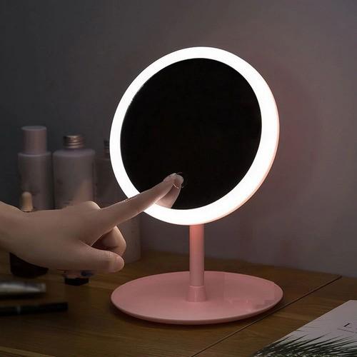 Espelho De Mesa Makeup Maquiagem Com Luz Led Recarregável