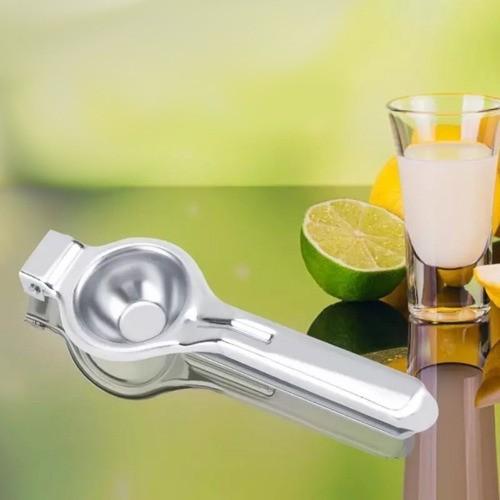 Espremedor De Limão Em Aço Inox Manual Suco Gourmet Luxo