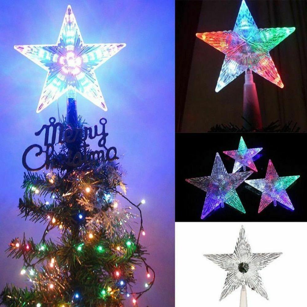 Estrela Ponteira Com Led 19cm Enfeite Árvore De Natal 220v