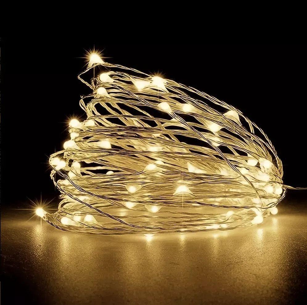 Fio De Fada Cordão Luminoso Luminária 2m 20 Leds