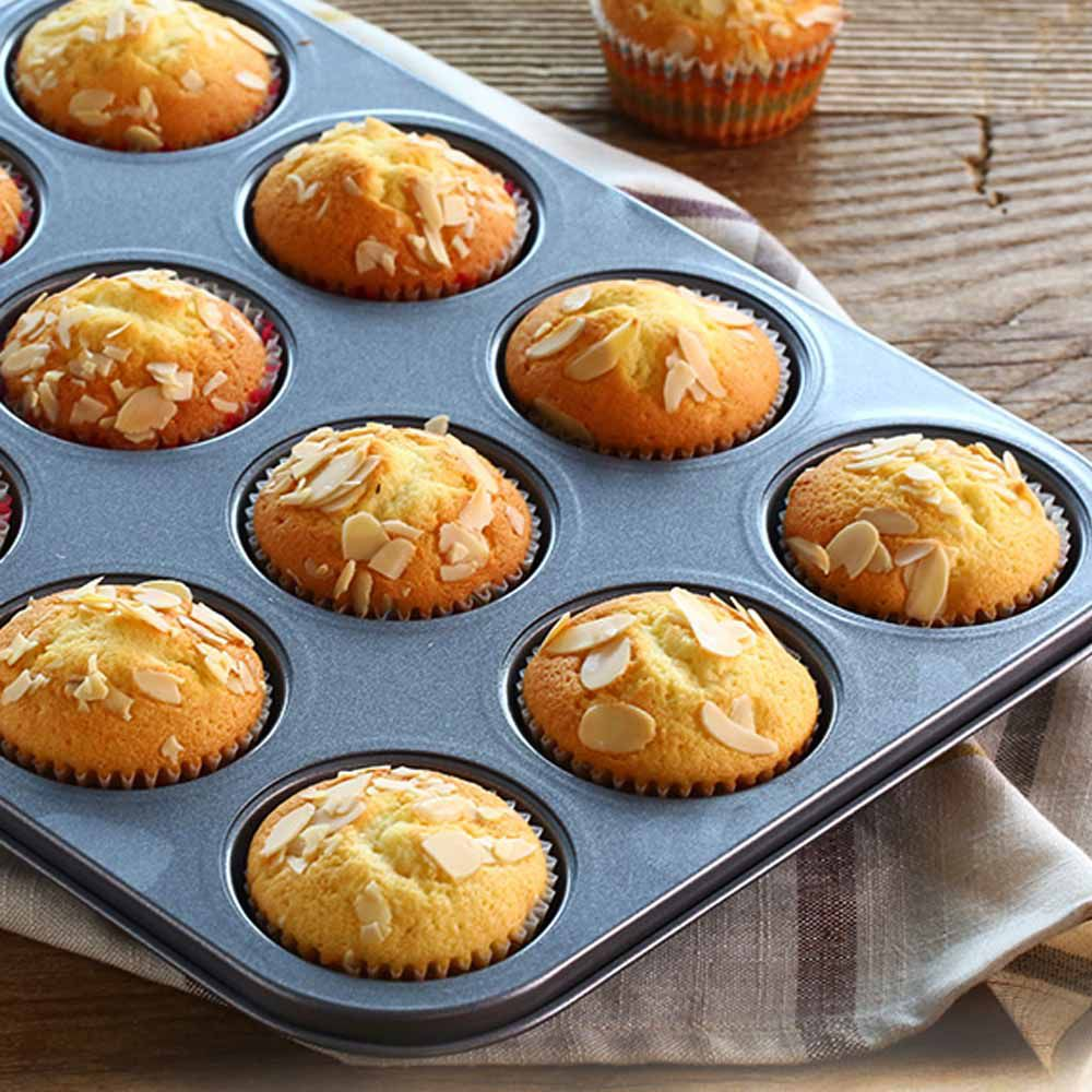 Forma Cupcake E Pão De Queijo Anti-aderente 12 Cavas