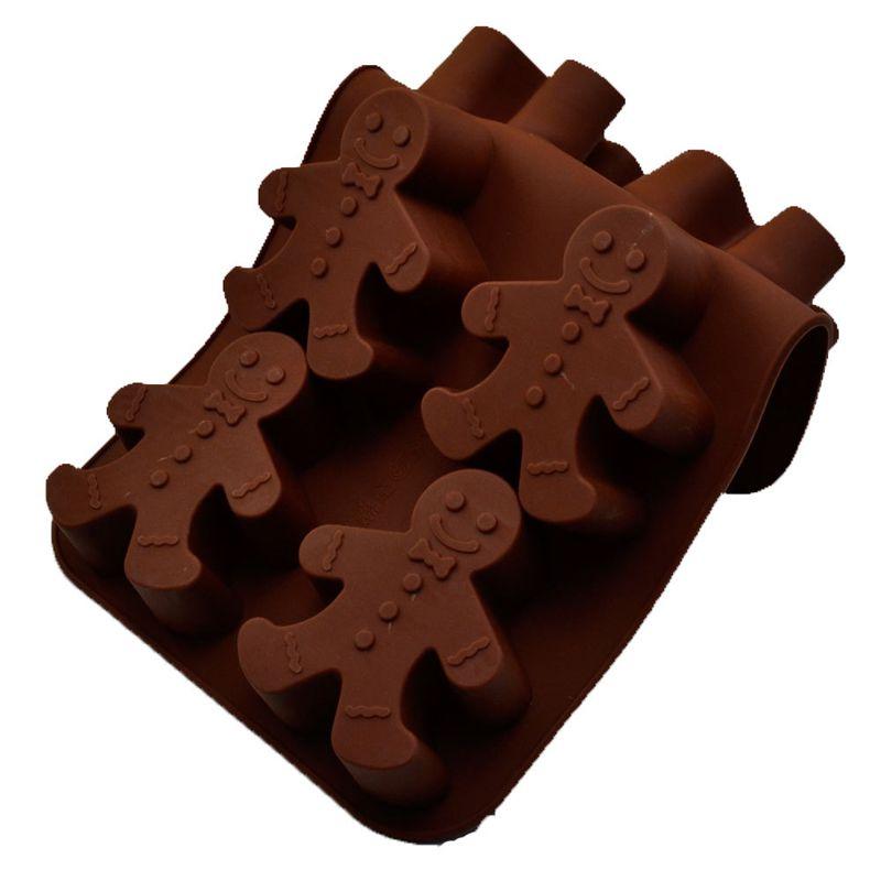Forma De Silicone Boneco Cupcake Biscoitos Bolos Natal