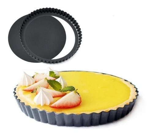 Forma Para Torta Metal Antiaderente Com Fundo Removível 23cm
