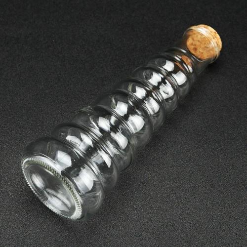Frasco Garrafa Decorativa De Vidro Com Tampa De Rolha 350ml