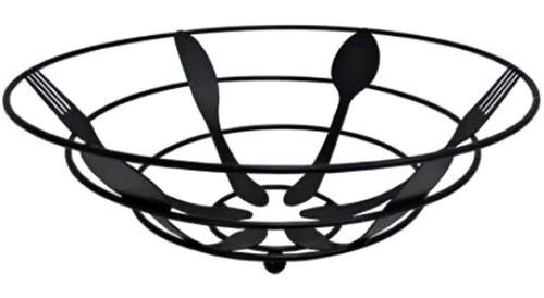 Fruteira Mesa Aramada Luxo Design Talheres Preto