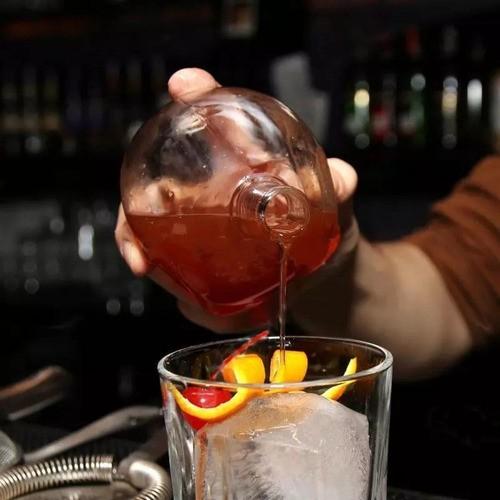 Garrafa Decorativa Caveira De Vidro Whisky Vodka 750ml