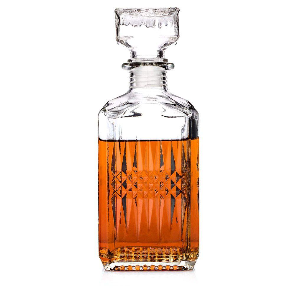 Garrafa Em Vidro Retrô Licor E Whisky Decoração Vintage