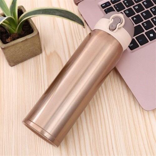 Garrafa Térmica Aço Inox Squeeze Com vacuum Cup 450ml