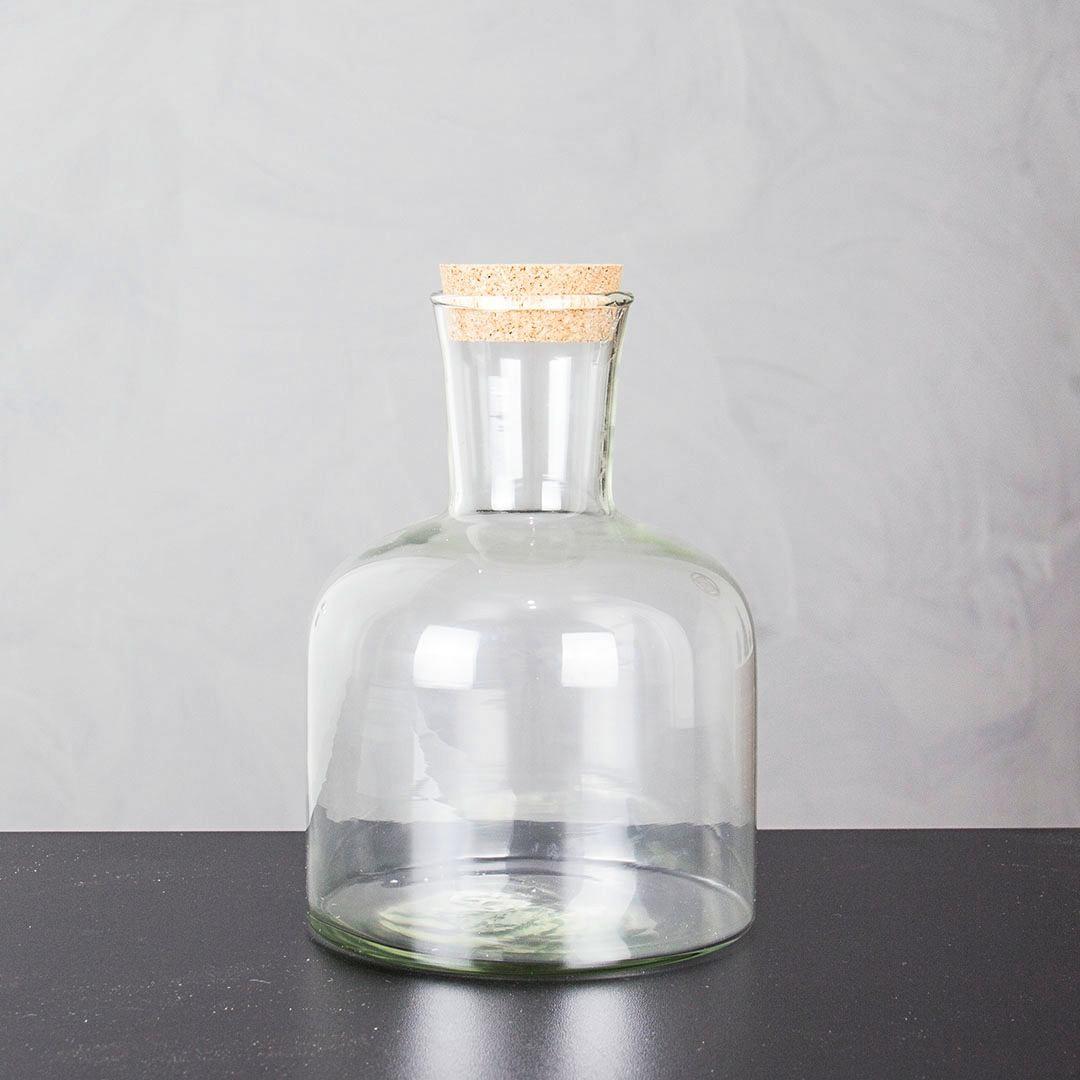Garrafão Pequeno De Vidro Com Rolha 1,3 Litros 18cm