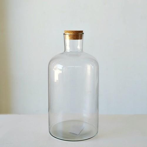 Garrafão Pequeno De Vidro Com Rolha 2 Litros 24cm
