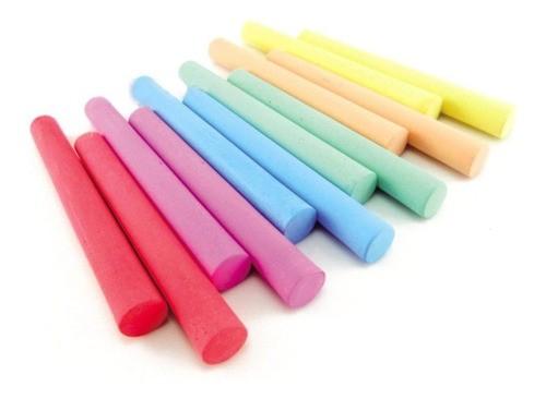 Giz Escolar Antialérgico Colorido Caixa Com 50 Unidades