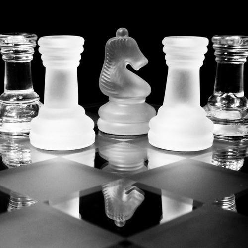 Jogo De Xadrez Tabuleiro E Peças De Vidro