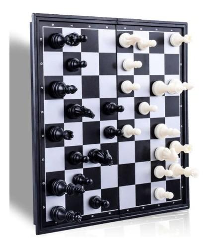 Jogo Xadrez Dobrável Magnético Tabuleiro 18X18cm