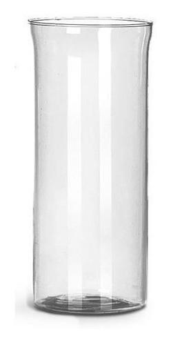 Kit 03 Vasos Tubo Copo De Vidro 08X18cm Decoração Mesa